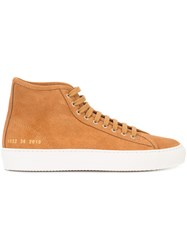 Common Projects Hi Top Sneakers Brown