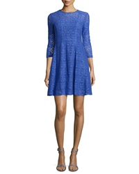 Nanette Lepore 3 4 Sleeve Lace Fit And Flare Dress