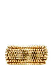 Kenneth Jay Lane Metal Weave Thick Elastic Bracelet Metallic