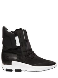 Y 3 Noci Nylon And Leather Boot Sneakers