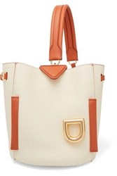 Danse Lente Josh Smooth And Textured Leather Bucket Bag White