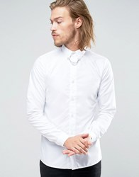 Rogues Of London Skinny Shirt With Chain White