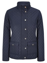 Viyella Petite Quilted Riding Jacket Navy
