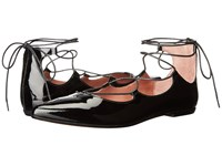 Summit By White Mountain Karena Black Patent Leather Women's Flat Shoes