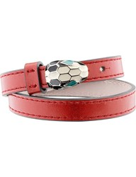 Bulgari Bvlgari Serpenti Forever Special Edition Leather Bracelet Ruby Red