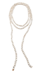Ginette_Ny Natural Freshwater Pearl Sautoir Necklace Pearl Rose Gold