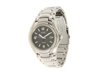 Citizen Bm6060 57F Eco Drive 180 Wr100 Titanium Bracelet Watch Silver Black Dress Watches Gray
