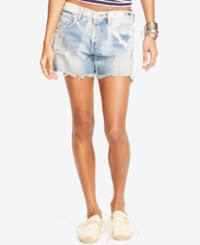 Denim And Supply Ralph Lauren Washed Relaxed Shorts Navy