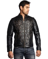 Affliction Rebellious Leather Jacket Black