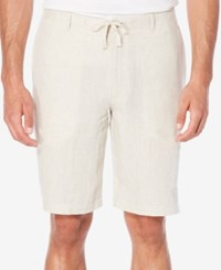Perry Ellis Men's Drawstring Chambray Shorts Natural Linen