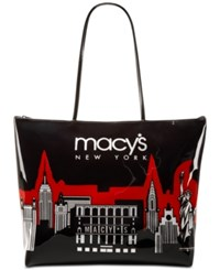 Macy's City Glitter Zip Tote Only At Red