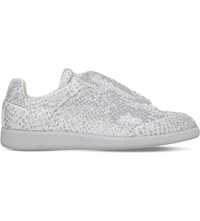 Maison Martin Margiela Future Python Print Knitted Trainers Silver