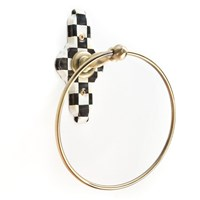 Mackenzie Childs Courtly Check Towel Ring