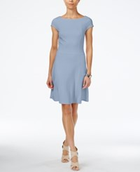 Armani Exchange Boat Neck A Line Dress A Macy's Exclusive Style Snowdon Blue