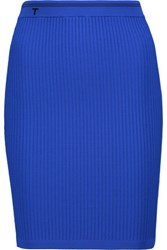 Alexander Wang T By Ribbed Stretch Jersey Mini Skirt Bright Blue