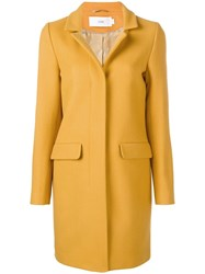 Closed Single Breasted Coat Yellow