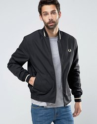 Fred Perry Laurel Wreath Bomber Made In England Single Tipped Black