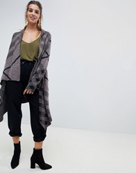 Qed London Knitted Cape Brown