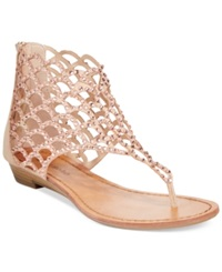 Zigi Soho Mela Caged Flat Thong Sandals Women's Shoes Cinnamon