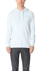 Reigning Champ Lightweight Terry Gym Logo Pullover Hoodie Sky Blue
