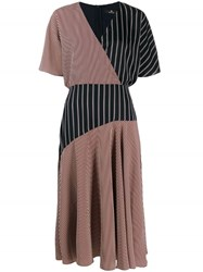 Paul Smith Ps Striped Wrap Dress Red