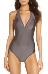 Ted Baker London Mesh Panel One Piece Swimsuit Magnete