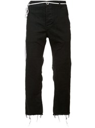 The Squad Raw Edge Cropped Trousers Black