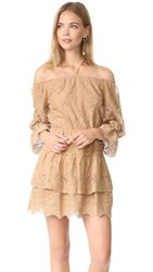 Alice Olivia Waylon Dress Tan