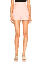 Sea Lace Up Camper Short In Pink
