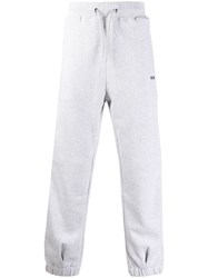 Msgm Logo Jogging Trousers Grey