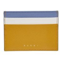 Marni Yellow And Blue Colorblock Card Holder