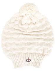 Moncler Bobble Top Beanie Nude And Neutrals