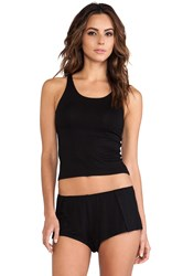 Only Hearts Club So Fine Crop Tank Black