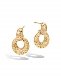 John Hardy Classic Chain Hoop Drop Earrings In 18K Gold