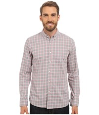 Kenneth Cole Sportswear Long Sleeve Slim Button Down Promo Blaze Combo Men's Long Sleeve Button Up Pink