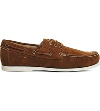 Ralph Lauren Bienne Ii Suede Boat Shoes New Snuff