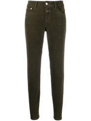 Closed Cropped Skinny Jeans Green