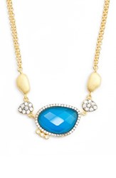 Freida Rothman Women's Baroque Blues Pendant Necklace