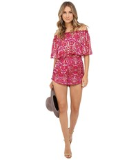 Show Me Your Mumu Rosarita Romper Pomegranate Punch Women's Jumpsuit And Rompers One Piece Pink