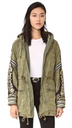 Free People Wtf Embellished Parka Moss