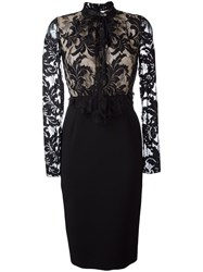 Francesco Scognamiglio Lace Top Dress Black