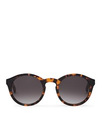 Reiss Barstow Monokel Eyewear Keyhole Sunglasses In Brown Mens