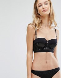 New Look Sequin Bra Black