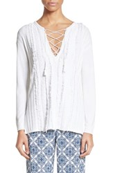 St. John Women's Collection Fil Coupe Lace Up Tunic