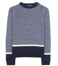 Mih Jeans Striped Wool Sweater Blue