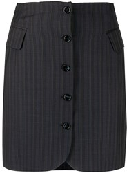 Acne Studios Button Up Striped Skirt 60