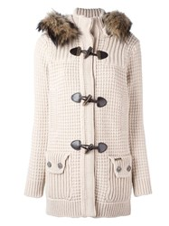 Bark Hooded Duffle Coat Nude Neutrals