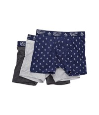 Original Penguin 3 Pack Boxer Brief Set Medieval Blue Pack Men's Underwear Multi