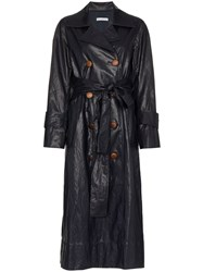Rejina Pyo Double Breasted Trench Coat Blue