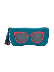 Sarah Chofakian Leather Pouch Blue